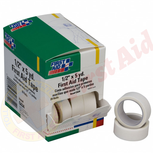 "The First Aid Only® First Aid Tape - 1/2"" x 5 yd. - 20 Per Box"