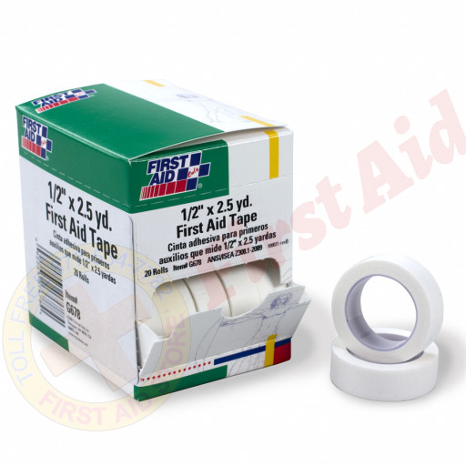 "The First Aid Only® First Aid Tape - 1/2"" x 2.5 yd. - 20 Per Box"