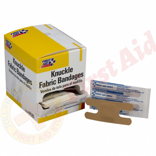 The First Aid Only® Knuckle Bandage, Fabric - 100 Per Box