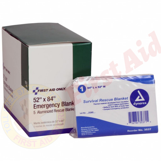 The First Aid Only® Emergency Blanket - 5 Per Box