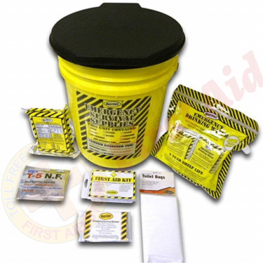 The MayDay Brand Economy Emergency Kit - 1 Person - Honey Bucket