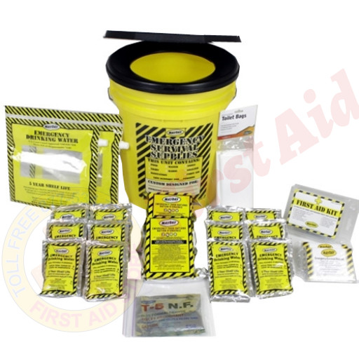 The MayDay Brand Economy Emergency Kit  - 2 Person - Honey Bucket