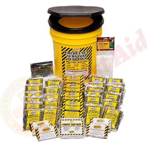 The MayDay Brand Economy Emergency Kit - 4 Person - Honey Bucket