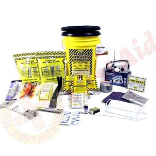 The MayDay Brand 3 Person Deluxe Emergency Honey Bucket Kit