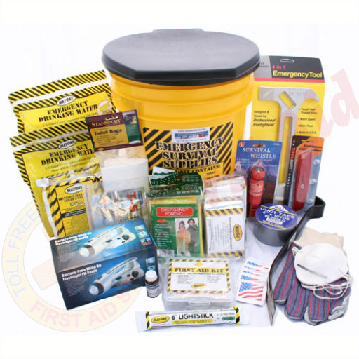 The MayDay Brand 4 Person Deluxe Emergency Honey Bucket Kit