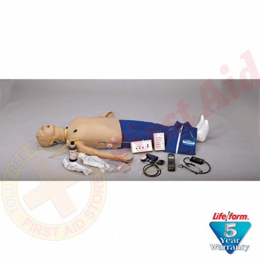 The Life/form® Adult CRiSis Auscultation Mannequin with ECG Simulator