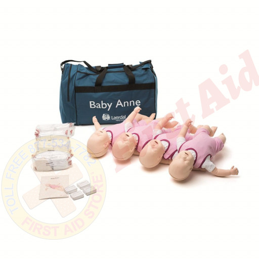The Laerdal® Baby Anne - Infant CPR Mannequin - 4 Pack