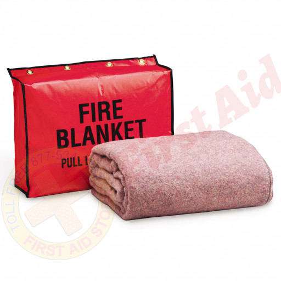 "The First Aid Storeâ""¢ Fire Retardant Blanket w/ Vinyl Bag"