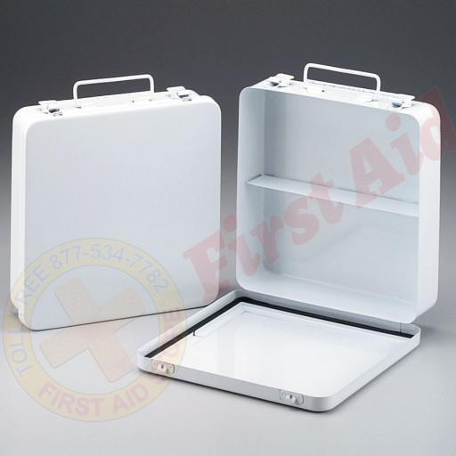 The First Aid Store™ Empty Metal Case, 24 Unit w/ Gasket - Horizontal, Wall Mountable