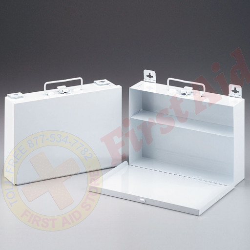 The First Aid Store™ Empty Metal Case, 25 Person, Wall Mountable