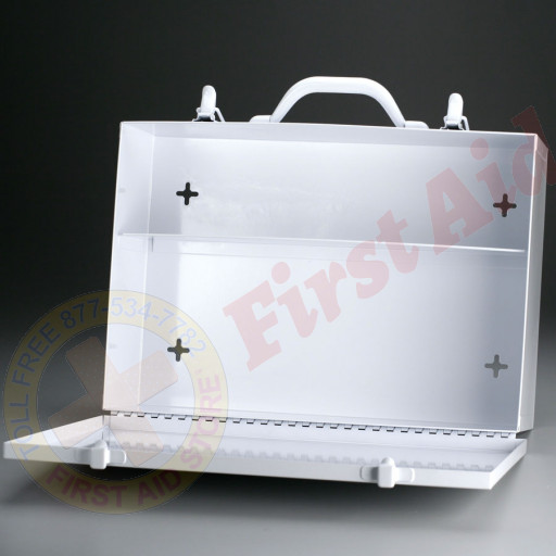 The First Aid Store™ Empty Metal Industrial Cabinet Swing Door - 2 Shelf