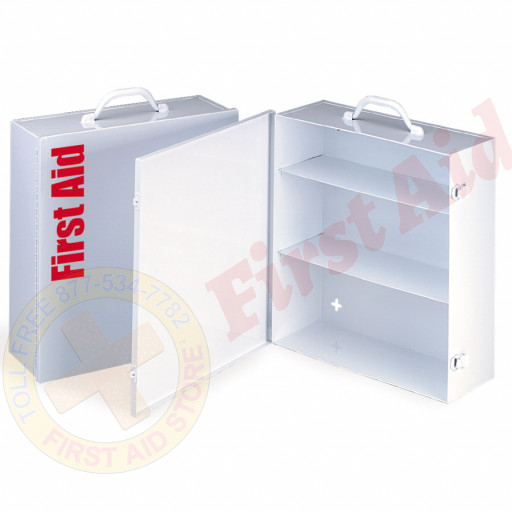 The First Aid Store™ Empty Metal Industrial Cabinet Swing Out Door - 3 Shelf