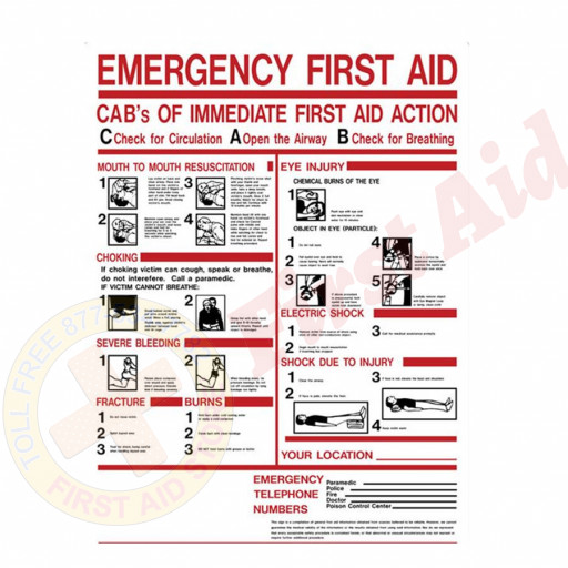 "The First Aid Store™ First Aid Sign - ""ABC's of First Aid"" - Plastic"