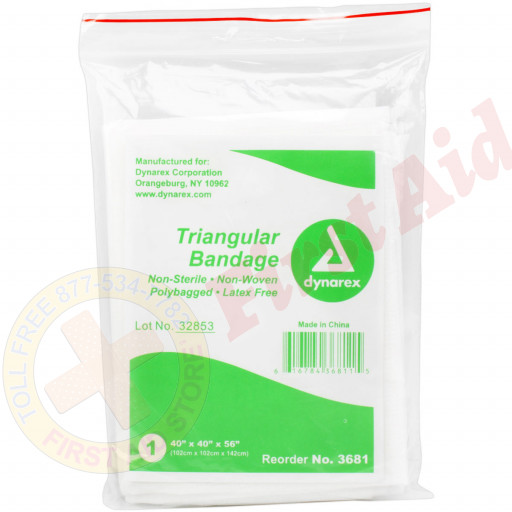 The First Aid Store™ Triangular Sling/Bandage w/ 2 Safety Pins - 1 Each