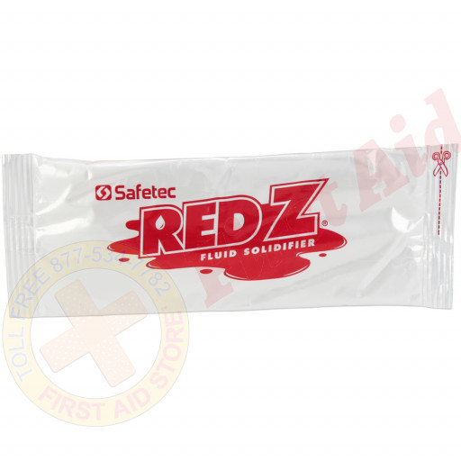 The Safetec Red-Z™  Fluid Control Solidifier, 2 oz. Pack