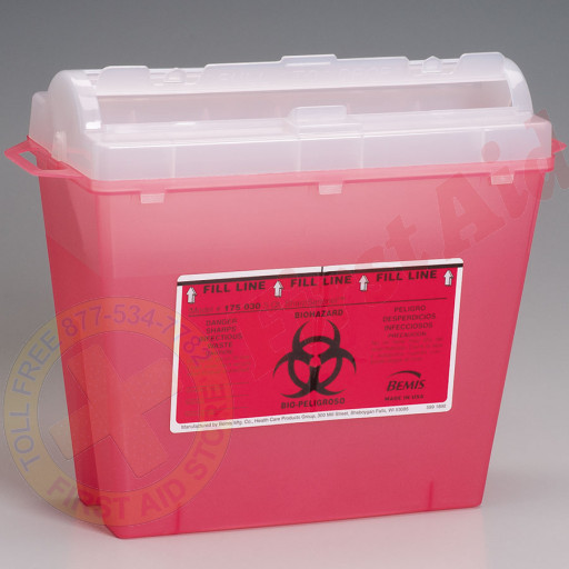 The First Aid Store™ Sharps Container, 5 Quart