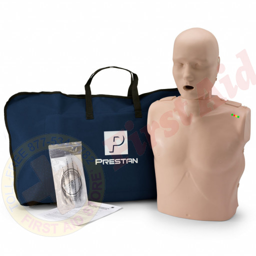 The Prestan™ Adult CPR Mannequin w/ Monitor - Medium Skin