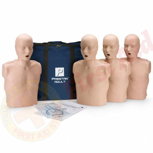 The Prestan™ Adult CPR Mannequin w/o Monitor - 4 Pack - Medium Skin
