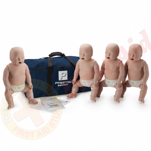 The Prestan™ Infant CPR Mannequin w/ Monitor - 4 Pack - Medium Skin