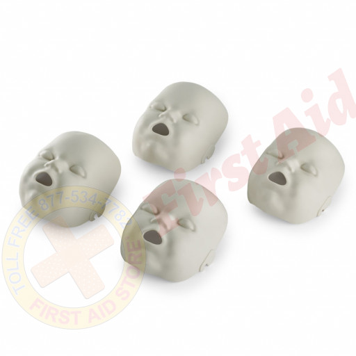 The Replacement Faces for Prestan™ Infant Mannequins - 4 Pack - Light Skin