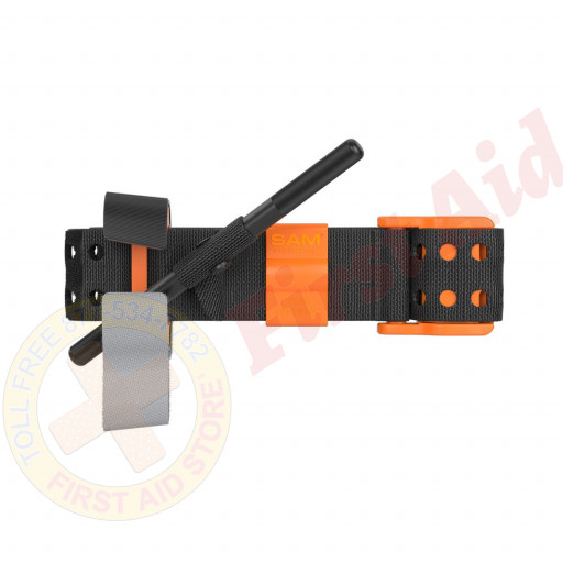 The SAM XT Extremity Tourniquet - Black & Orange