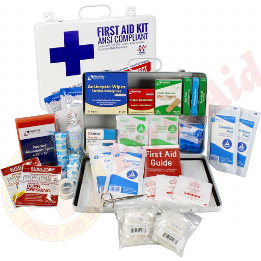 The Urgent First Aid Kit, Bulk, Metal, 198 Pieces, ANSI B, 50 Person