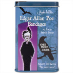 The Archie McPhee (Accoutrements) Fun Edgar Allan Poe Bandages - 15 Per Tin
