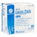 "The 2"" x 2"" Sterile Gauze Pads, 25/BX"