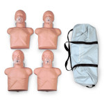 The Simulaids Economy Adult Sani-Mannequin w/ Carry Bag - 4 Pack