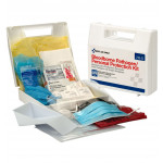 The First Aid Only® blood borne Pathogen/Personal Protection Kit w/ 6 pc CPR