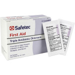 The Safetec Triple Antibiotic .9gm. Pouch, 25 per box