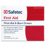 First Aid & Burn Cream is non-greasy and non-irritating. Keep them in your purse, backpack, pocket or glove compartment