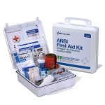 The First Aid Only 50 Person First Aid Kit, ANSI B, Plastic Case, Weatherproof