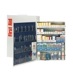 The First Aid Only 5 Shelf First Aid ANSI B+ Metal Cabinet, with Meds