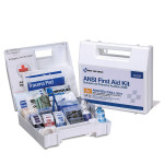 The First Aid Only 25 Person First Aid Kit, ANSI A+, Plastic Case with Dividers
