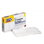 """The First Aid Only® Compress Bandage, Off Center, 2"""" - 4 Per Box"""