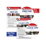 BOGO: The The American CPR Training™ First Aid Video + The American CPR Training™ C.A.R.E.™ CPR DVDs