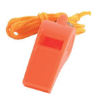 The MayDay Industries Emergency Gear Plastic Whistle with Lanyard