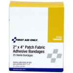 "The First Aid Only 2""x4"" Patch Fabric Adhesive Bandage, 25 Per Box"