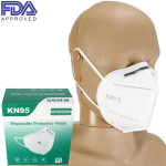 The KN95 Protective Face Masks, Disposable Particulate Filtering Mask, 20 per box