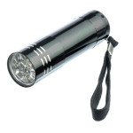 The Mini Aluminum Flashlight, Uses 3 AAA Batteries