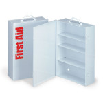 The First Aid Store™ Empty Metal Industrial Cabinet Swing Out Door - 4 Shelf