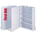 The First Aid Store™ Empty Metal Industrial Cabinet Swing Out Door - 5 Shelf
