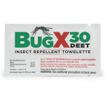 The BugX™ Insect Repellant Towelette, 30% DEET - 1 Each