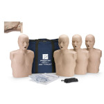 The Prestan™ Adult Jaw Thrust CPR Mannequin w/o CPR Monitor - 4 Pack - Medium Skin