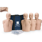 The Prestan™ Adult Jaw Thrust CPR Mannequin w/ CPR Monitor - 4 Pack - Medium Skin