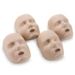The Replacement Faces for Prestan™ Adult Mannequins - 4 Pack - Medium Skin