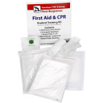 The CPR & First Aid Student Training Kit, 8 Pieces