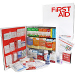 The Urgent First Aid 3 Shelf Industrial First Aid Station - Pocketliner - 100 Person - ANSI A+