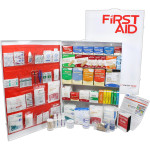 The Urgent First Aid 5 Shelf Industrial First Aid Station - Pocketliner - 200 Person - ANSI A+